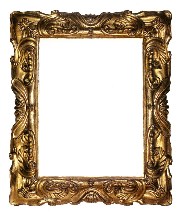 This Italian carved and gilt mannerist frame of reverse profile in the auricular style features stylized shell motifs at centers surrounded ...