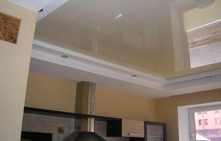 Многоуровневый потолок на кухне фото