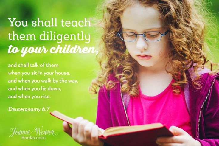 """Get your FREE Printable of """"10 Verses Every Kid (and Mom & Dad!) Should Know""""  http://joannaweaverbooks.com/2016/06/09/10-verses-every-kid-should-know/"""