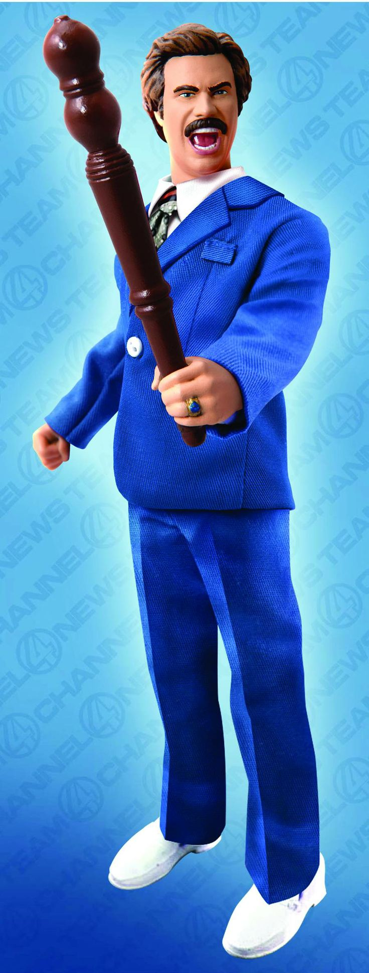 Anchorman 8-Inch Battle Ready Ron Burgundy Figure [FEB142146]  Here's a classy, Retro-Style 8-inch action figure depicting San Diego's Channel 4 News Team leader, Ron Burgundy!   http://www.supercollectible.com/anchorman-8-inch-battle-ready-ron-burgundy-figure-feb142146/