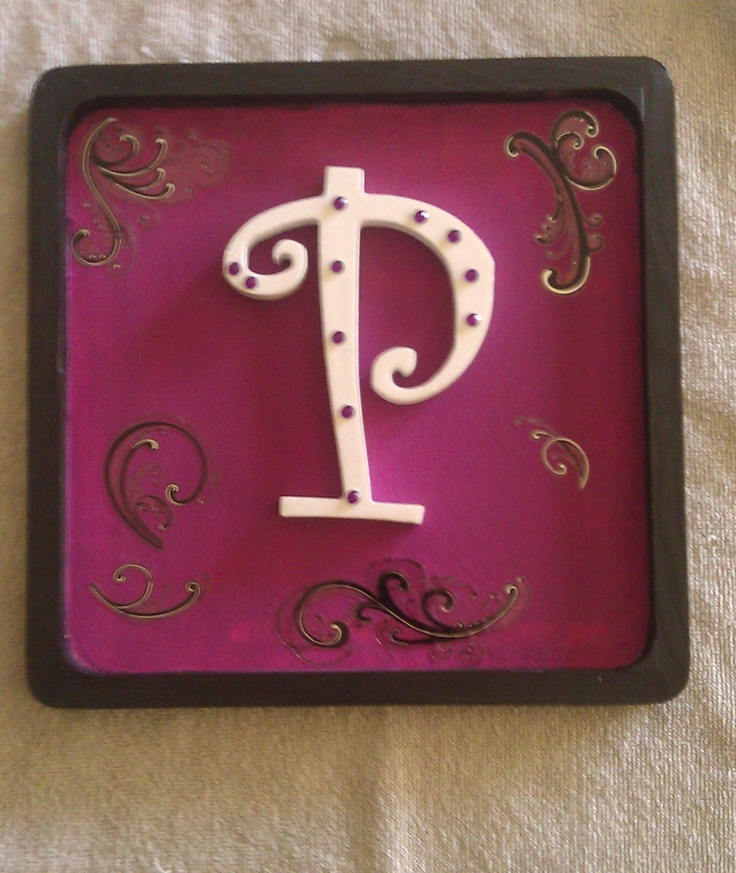 Name plaque i made for my daughter: My Daughter