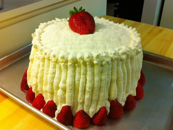 Beene's Baking Blog: Strawberry Custard Cassata Cake - Corbo's Inspired