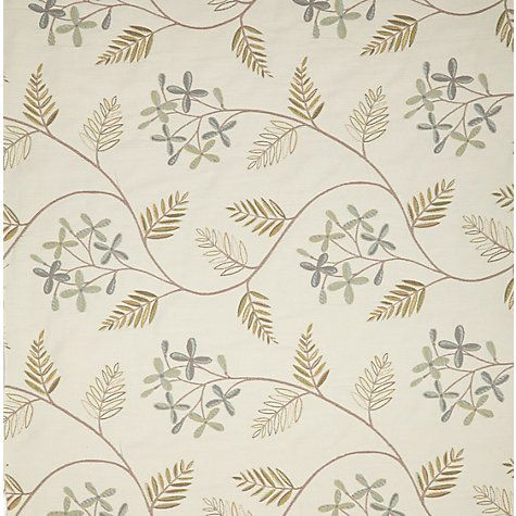 John Lewis Leaf Sprig Curtain, Duck Egg