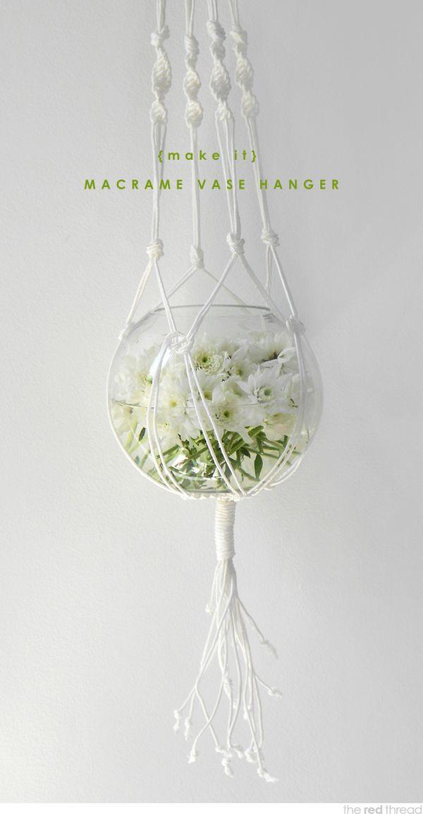 how to make macrame flower pot