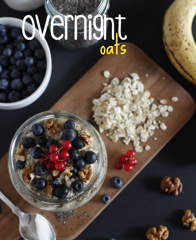 Overnight oats ou papas de aveia cruas - Made by Choices
