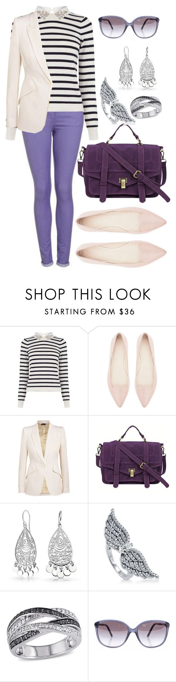 """""""Calça roxa"""" by fernanda-marfil ❤ liked on Polyvore featuring Oasis, Witchery, Alexander McQueen, Chicnova Fashion, Bling Jewelry, BERRICLE and Burberry"""