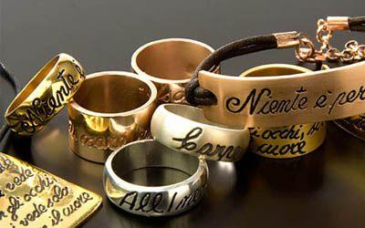 Ink project gioielli personalizzati