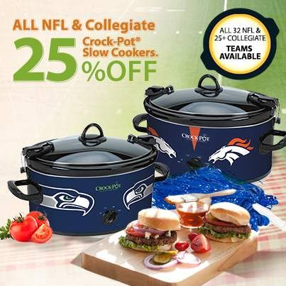 get your draft on with special savings on our nfl u0026 collegiate crockpot
