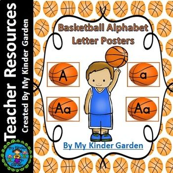 Basketball Full Page Alphabet Letter Posters Word Wall Headers Here is a set of large full page Basketball Letter Posters. The posters contain a page with each uppercase letter, each lowercase letter, and a page with the uppercase letter along with the matching lowercase letter.