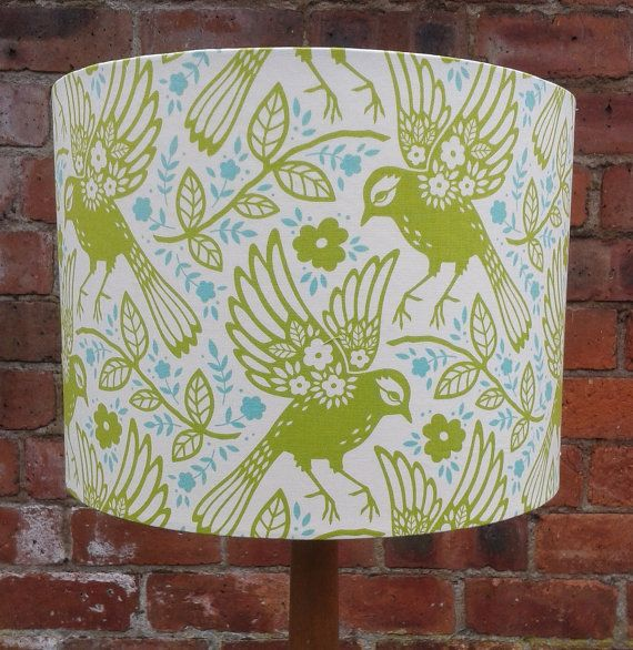 Hey, I found this really awesome Etsy listing at https://www.etsy.com/listing/197056412/bird-vine-in-green-and-blue-fabric