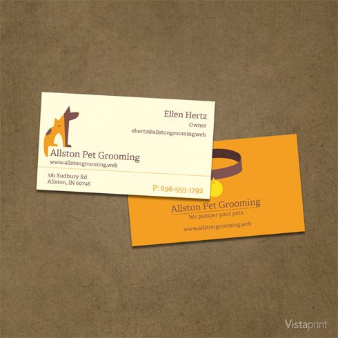 Unique Dog Grooming Business Cards