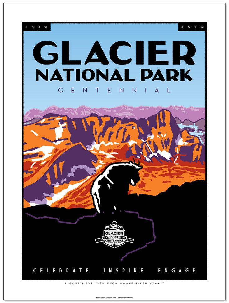 Glacier National Park poster by Pete Thomas Creative