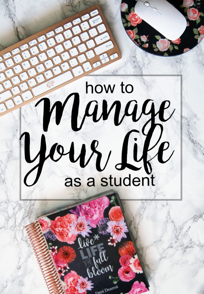 How to Manage your Life as a Student - top tips for how to juggle it all: work, school, homework, and a social life - without losing your sanity! #ErinCondren #ECLifePlanner #Ad