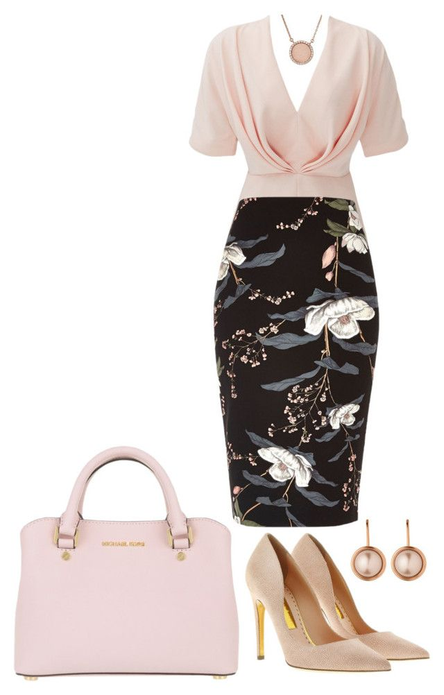 """rose gold"" by muslifa ❤ liked on Polyvore featuring TY-LR, River Island, MICHAEL Michael Kors, Rupert Sanderson, Dyrberg/Kern, Michael Kors, gold and rose"