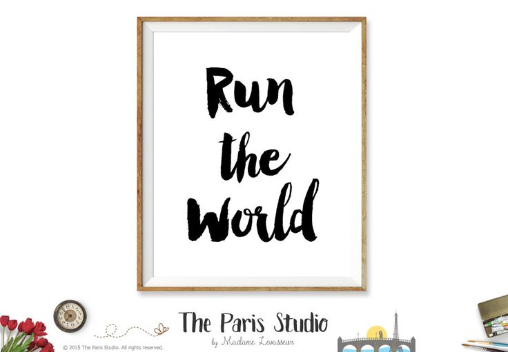 Printable Art: Girls Run The World Lyrics Art