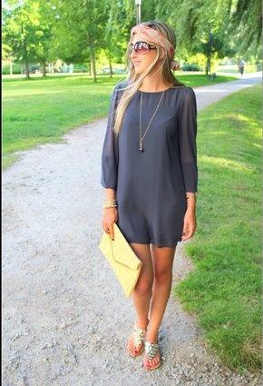 Primark - black loose dress