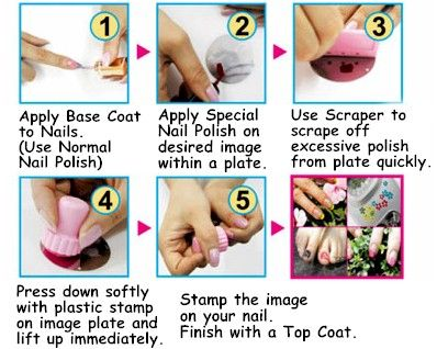 52 best nail art freak images on pinterest hairstyles beautiful how to apply stamp on nails nail art prinsesfo Images