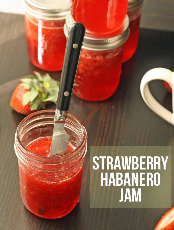 When life gives you a boatload of habanero peppers and strawberries, make some jam. Strawberry habanero jam to be exact - spicy and sweet!   www.honeyandbirch.com #canning #jam #jelly