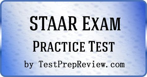 Free STAAR Practice Test Questions by TestPrepReview. Be prepared for your STAAR test. #staar