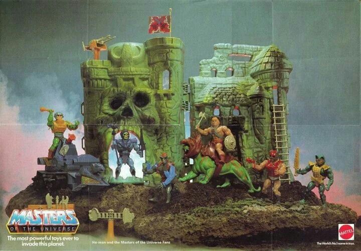 We used to bring our barbies over to play with this castle. Our brothers hated that.