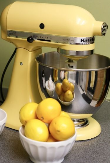 I want this lemony yellow KitchenAid mixer so badly!
