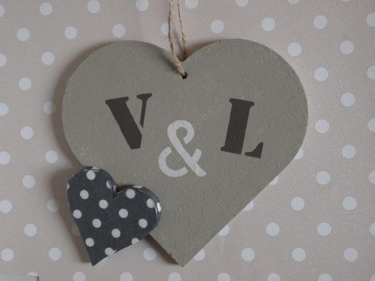 Stoer hart met voorletters, bijzonder kado voor een #bruiloft