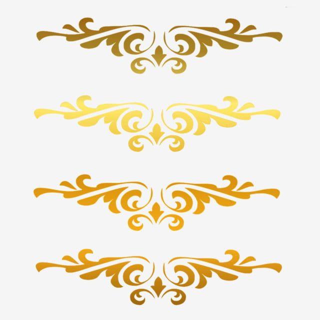 4 Gold Borders Clip Art Borders Clip Art Gold Clipart