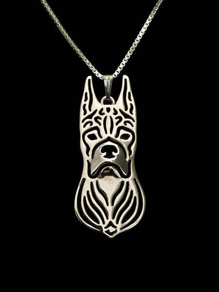 Boxerr hanger Geometrisch zilver Plated Honden ketting