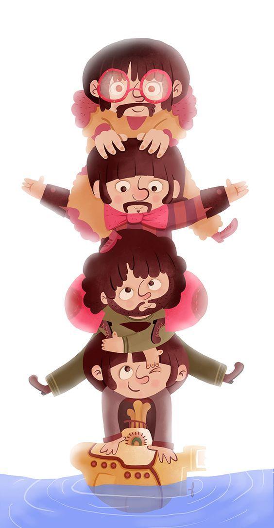 The Beatles - As divertidas ilustrações de Paula Resende - IDEAGRID.com.br: