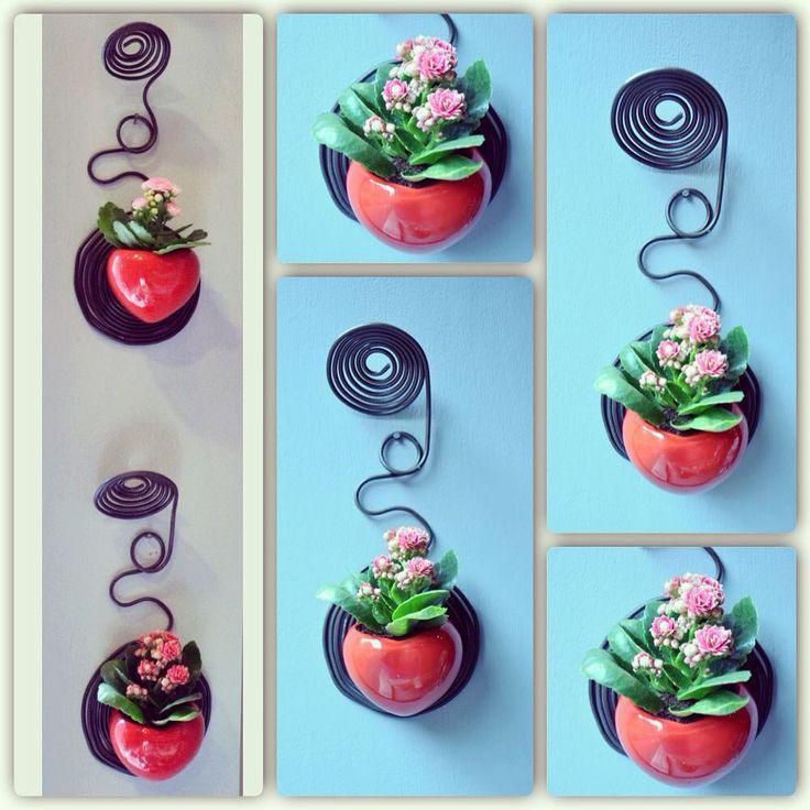 17 migliori idee su vasi a parete su pinterest - Portavaso da parete ...