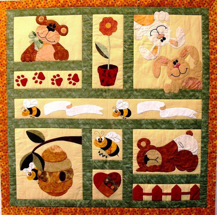 2461 best applique images on Pinterest | Bird quilt, Crafts and Flower : baby quilt applique patterns - Adamdwight.com