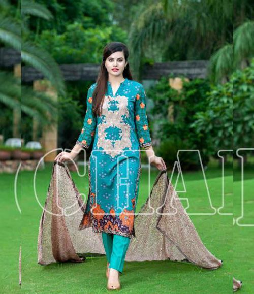 Charizma Range Vol-3 Luxury Lawn Embroidered Collection CR-616