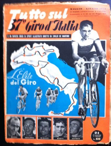 1954 CICLISMO TUTTO SUL 37° GIRO D'ITALIA in Collezionismo, Collezionismo cartaceo, Giornali e riviste d'epoca | eBay