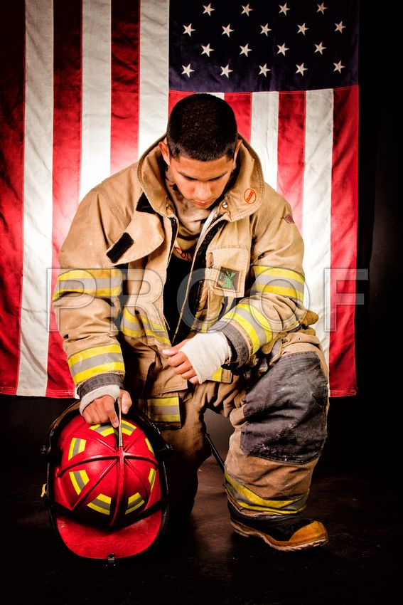 Firefighter senior pic