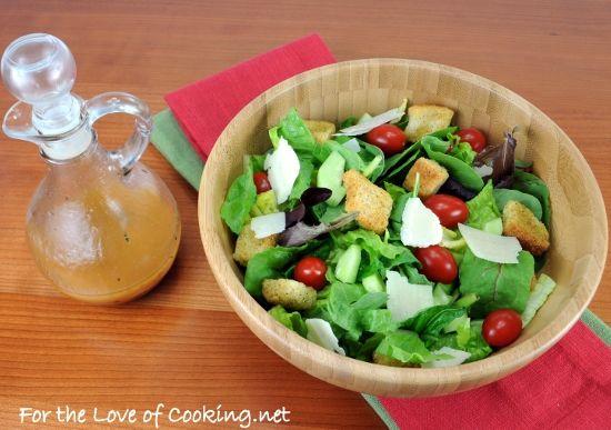 Mixed Green Salad With An Italian Vinaigrette Recipe ...