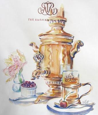 paris breakfasts: March 2007 - illustration by Carol Gillott