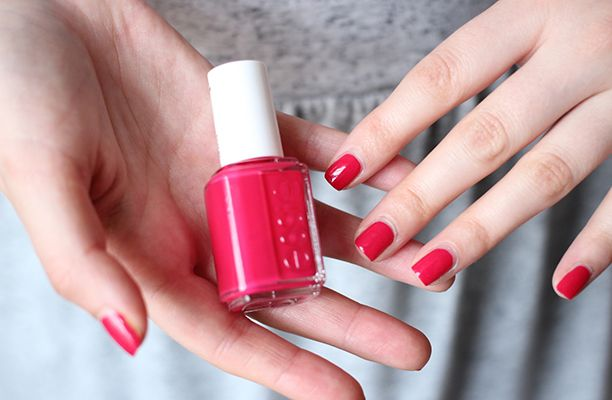 Essie's Watermelon is a truly juicy shade. The lovely lacquer is a fresher version of the typical corals and reds and looks perfect paired with a matching lip.