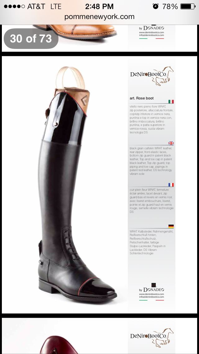 DeNiro riding boot