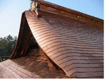 The best roof material hipped copper roof chibasei for Roof covering materials