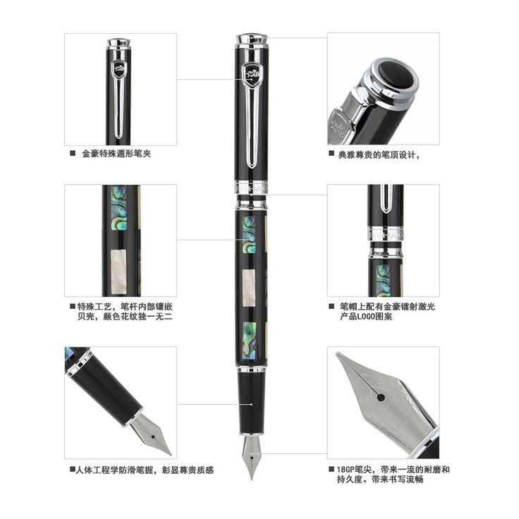 "Jinhao 8802 Classical Chinese Culture ""ZhuGeLiang"" ""LaoZi"" Iridium Fountain Pen Silver Pens Free Shipping No Include The Box"