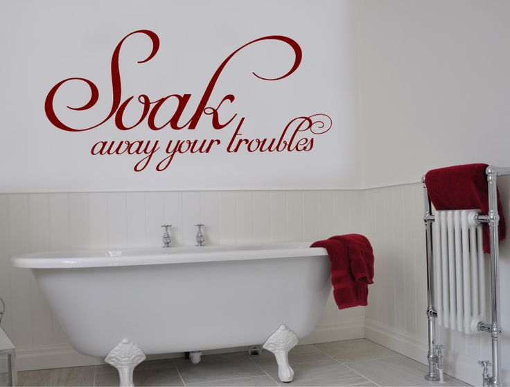 Soak Away Your Troubles Wall Sticker | Bathroom Wall Decal   Aspect Wall Art