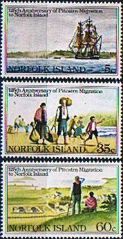 Norfolk Island 1981 Pitcairn Islanders Migration Set Fine Mint SG 265/8 Scott 277/9 Other Norfolk Island Stamps HERE