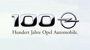 Opel - 1999 - Jubileumslogotyp: 100 år av bilproduktion.