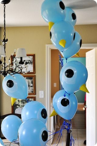"pigeon birthday party, such cute ideas!  From the book ""don't let the pigeon drive the bus!"
