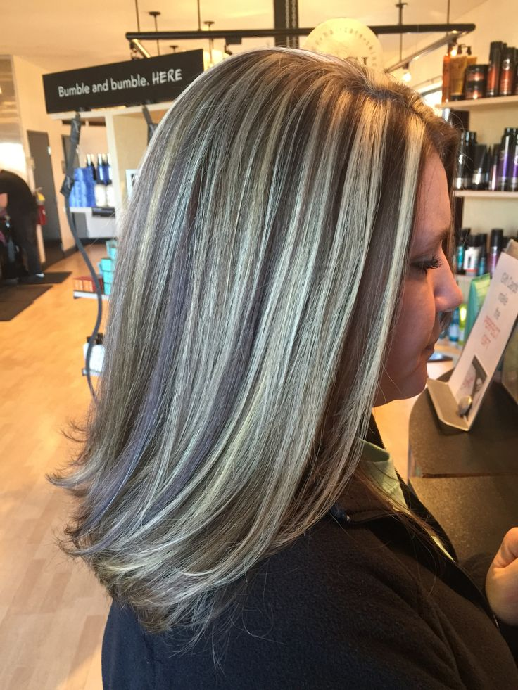 Blonde Chunky Highlights With Rich Brown Lowlights By