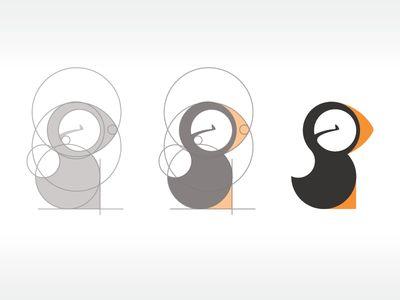 Puffin | #corporate #branding #creative #logo #personalized #identity #design #corporatedesign < repinned by www.BlickeDeeler.de | Have a look on www.LogoGestaltung-Hamburg.de