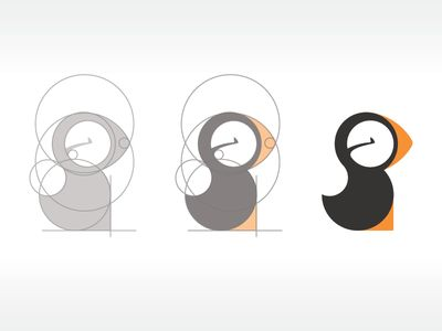 Puffin | #corporate #branding #creative #logo #personalized #identity #design #corporatedesign < repinned by www.BlickeDeeler.de | Have a look on www.LogoGestaltung-Hamburg.de