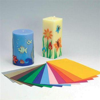Hobbyland - 12 FOGLI DI CERA COLORATI  *** li uso per decorare le mie candele e sono fantastici