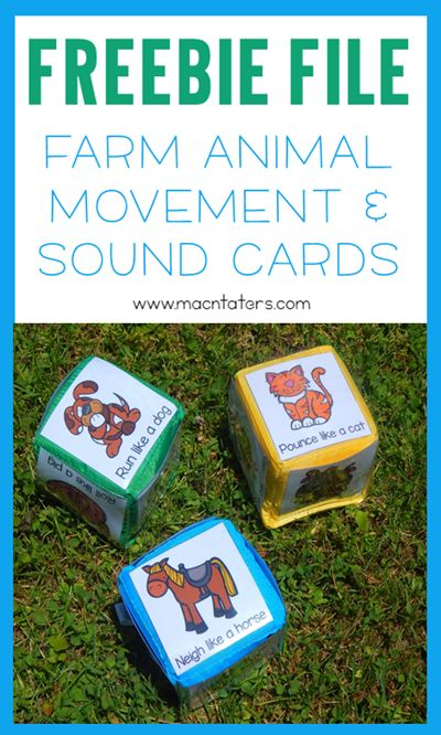 Farm Animals Roll and Move Gross Motor Game: Farm animal sound and movement cards for toddlers and preschoolers