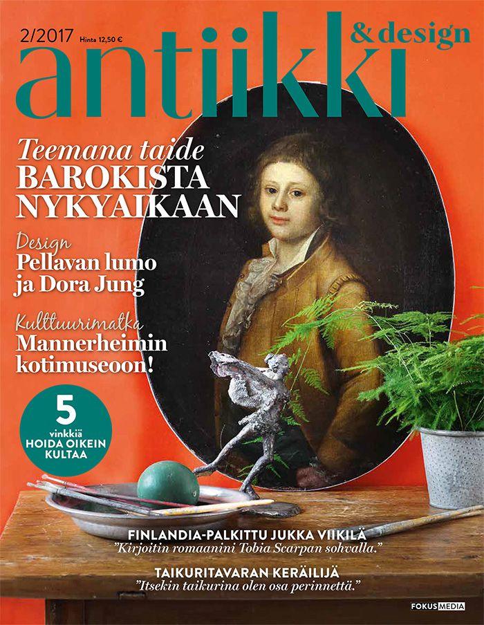 Antiikki & Design 2/2017. Kannen kuva Pia Inberg, tyyli Irene Wichmann